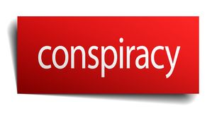 Conspiracy sign. Conspiracy square paper sign isolated on white background. conspiracy button. conspiracy vector illustration