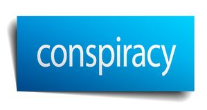 Conspiracy sign. Conspiracy square paper sign isolated on white background. conspiracy button. conspiracy stock illustration