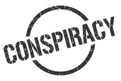 Conspiracy stamp. Conspiracy round grunge stamp. conspiracy sign. conspiracy stock illustration