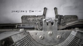 Free Conspiracy Theories Text Typed On Blank Paper With Typewriter In Vintage Background Royalty Free Stock Photo - 180221315