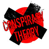 Conspiracy Theory rubber stamp. Grunge design with dust scratches. Effects can be easily removed for a clean, crisp look. Color is easily changed Royalty Free Stock Images