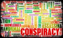 Conspiration illustration libre de droits