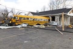 Conséquence de tornade dans Henryville, Indiana Photos libres de droits