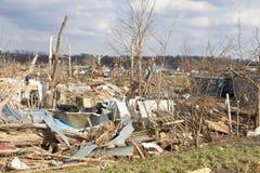 Conséquence de tornade dans Henryville, Indiana Photographie stock