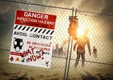 Conséquence de zombi Image libre de droits