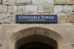 Constable Tower at the Tower of London. A view of the Constable Tower at the Tower of London.  A total of 21 towers make up the historic Tower of London Royalty Free Stock Image