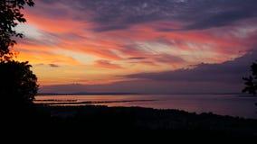 Constance λιμνών ηλιοβασιλέματος (Bodensee) Στοκ φωτογραφία με δικαίωμα ελεύθερης χρήσης