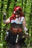 Steampunk Girl Wearing A Mask Royalty Free Stock Photos