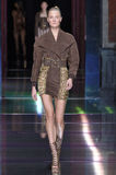 Constance Jablonski walks the runway during the Balmain show Royalty Free Stock Photography