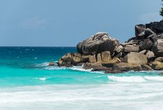 Constance Lemuria Beach, Seychelles Fotografia Stock