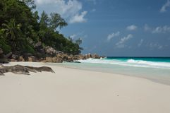 Constance Lemuria Beach, Seychelles Fotos de Stock
