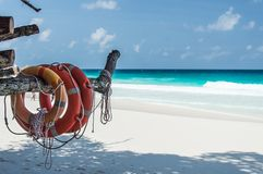 Constance Lemuria Beach, Seychelles Imagens de Stock Royalty Free