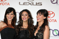 Constance Zimmer, Emmanuelle Chriqui, Perrey Reeves. LOS ANGELES - OCT 15:  Perrey Reeves, Emmanuelle Chriqui, Constance Zimmer arriving at the 2011 Stock Photos