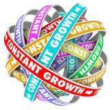 Constant Growth Learning Improvement Always que obtém melhor ilustração stock