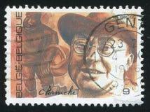 Constant Permeke, painter sculptor. RUSSIA KALININGRAD, 20 OCTOBER 2015: stamp printed by Belgium, shows Constant Permeke, painter sculptor, circa 1986 Royalty Free Stock Photos
