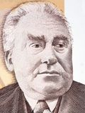 Constant Permeke portrait. From Belgian money Royalty Free Stock Photography