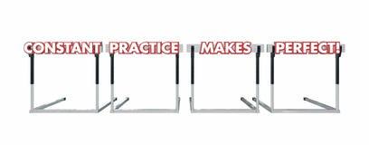 Constant Practice Makes Perfect Jumping sopra le transenne Immagine Stock Libera da Diritti