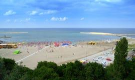 Constanta beach scenic view Stock Photography