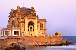 Constanta casino. Image at the sunset of The Casino from Contanta, Romania. The building was errected with public money between 1903-1910 and was inaugurated in Stock Photos
