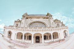 Constanta Casino. The old dilapidated Constanta Casino, an Art Nouveau style landmark built in 1909 (Cazinoul din ConstanÈ›a) by the shore of the Black Sea in stock photo