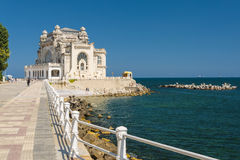 Constanta Casino, Romania. The old casino on the Black Sea coast in Constanta, Romania. Completed between the two World Wars in art nouveau style according to Stock Image