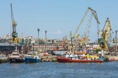 Constanta-Hafenwerft Lizenzfreie Stockfotografie