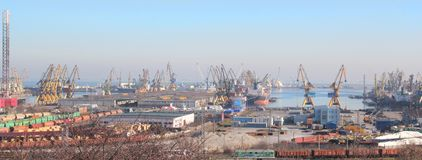 Constanta harbor industry Royalty Free Stock Images