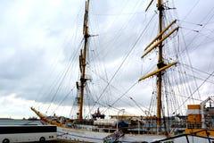 Constanta harbour at Black Sea. Marine Ship-School `Mircea` Stock Images