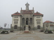 Constanta. Ovidiu market square in Constanta in a noverver foggy morning Royalty Free Stock Images