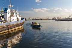 Constanta port bay view Royalty Free Stock Images