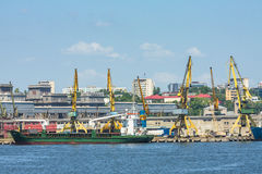 Constanta port shipyard Stock Image