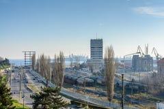 Constanta, Romania - January 6: Constanta Seaport on January 6, Stock Photos
