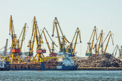Constanta shipyard Royalty Free Stock Image