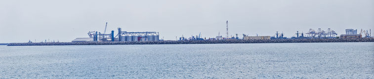 Constanta shipyard Stock Photography