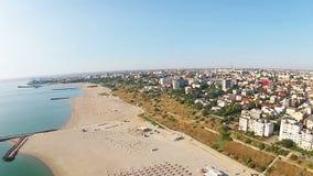 Constanta, Tomis Beach, Romania, aerial view
