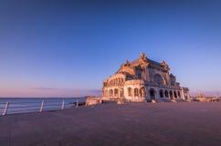 Constantacasino, de Zwarte Zee, Roemenië - Toeristische attractie stock afbeeldingen