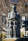 Constantin Brancoveanu statue stock photo