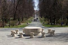 Constantin Brancusi kompleks – Targu-Jiu obrazy stock