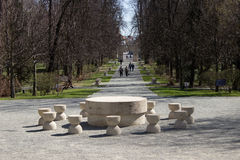 Constantin Brancusi komplex – Targu-Jiu Arkivbilder