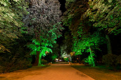 Constantin Brancusi park at night Stock Photo