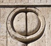 Constantin Brancusi's Kissing Gate details Royalty Free Stock Photography