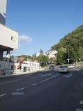 Constantin Dobrogeanu Gherea street in Brasov, Romania royalty free stock images