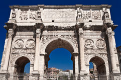 Constantin gate in rome front view. The Arch of Constantine near the Colosseum in Rome, Italy Royalty Free Stock Photo