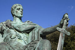 Constantina la gran estatua en York Imágenes de archivo libres de regalías