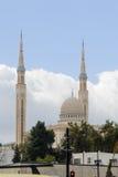CONSTANTINE ALGERIET - MARS 7, 2017: Den emirAbd-el-Kader moskén är en av de störst i världen Den initiala idén som startas i 196 Royaltyfria Bilder