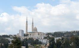 CONSTANTINE ALGERIET - MARS 7, 2017: Den emirAbd-el-Kader moskén är en av de störst i världen Den initiala idén som startas i 196 Arkivfoto