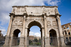 Constantine arch, Rome. The ancient Constantine triumphal arch in Rome, Italy Royalty Free Stock Image