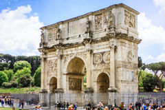 Constantine Arch in Rome, Italy. Royalty Free Stock Images