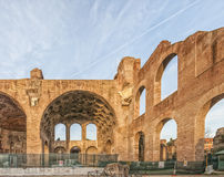 Constantine Basilica Roman Forum. Rome the Basilica of Maxentius and Constantine at the Roman Forum in Rome, Italy Royalty Free Stock Photography