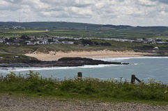 Constantine bay cornwall royalty free stock images